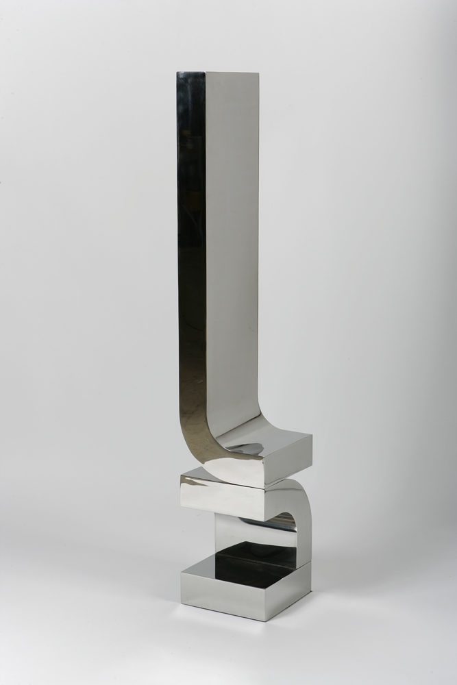 """Series 4 #19,"" 2014, stainless steel, 65 x 12 x 12"""