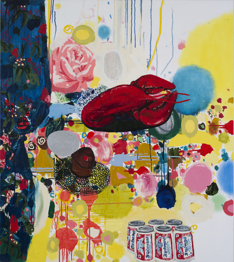 """Crushed Rose, 2011, oil on canvas, 54 x 48"""""""