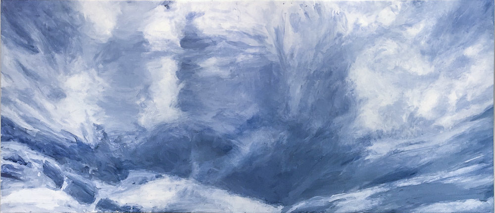 Chris Page, Eyes Toward Heaven III, 2016, Acrylic on Canvas 74 X 168 inches