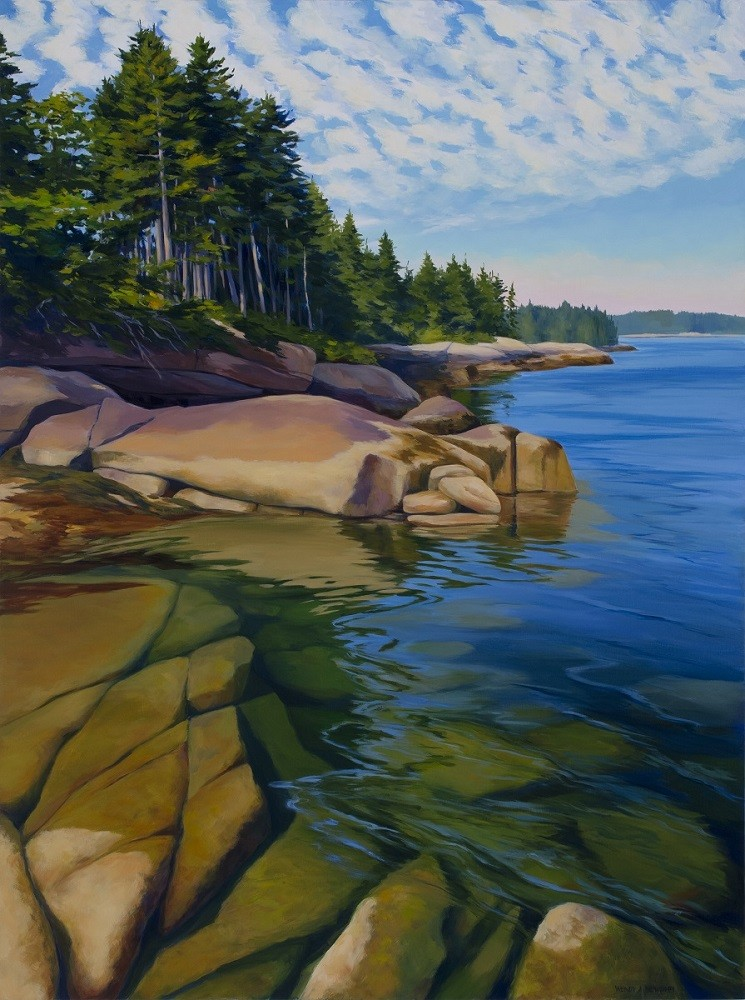 "Wendy Newcomb, ""Tidal Currents,"" oil,  30 x 40"""