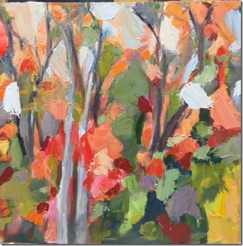 "Linda Gerson, ""Autumn Leaves,"" 2016, oil, 10 x 10"""