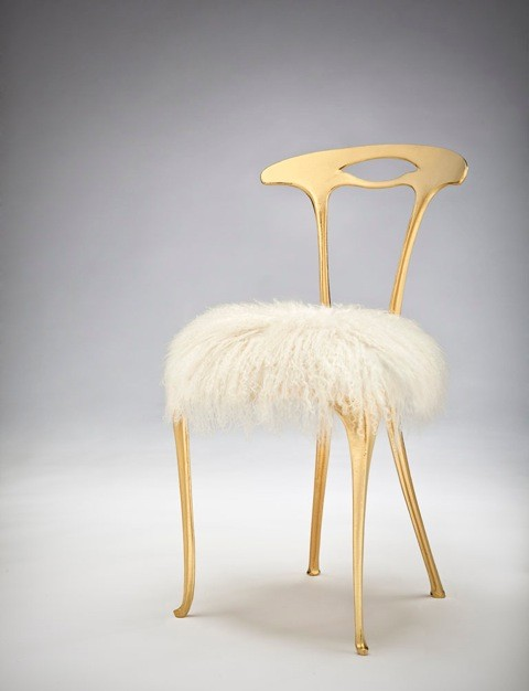 "Michele Caron, ""Gilded Chair"""