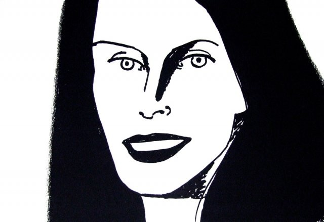 """Christy,"" by Alex Katz"