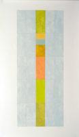 "Nancy Simonds, ""Vernal Stack,"" 59 x 30,"" Gouache on Paper"