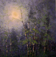 Donald V. Rainville, Trinity Moon, 2014, house oils on board, 46 x 46in.
