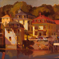 "Connie Hayes, ""Three Mansards Stonington"""