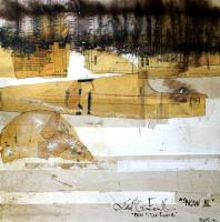 "Shifting Threshold Series: Winter: Shift 2, 2015, mixed  media on wood, 48 x 48"""