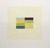 """Nancy Simonds, """"Central 8""""  42 x 42,""""  Gouache on Paper"""