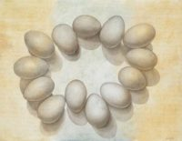 "Banjie Getsinger Nicholas, ""Daylight Savings,"" 2011, silverpoint on panel"