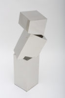 """""""Cube Column 10"""", 2016, stainless steel, 35 x 14 x 16"""""""