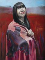 """Sharyn Paul Brusie, """"An Eagle Flies,"""" 2017, oil/acrylic, 30 x 40"""""""