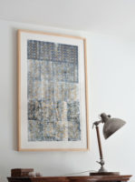 "Kimberly Crichton, Gentleman Rules, 2016, Handstitched Linoprint, 29x38"""