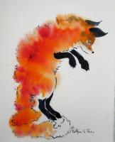 "Kathleen Fox, ""Fox in the Snow,"" 2014"