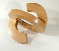 """""""New Circle #4,"""" African mahogany, 13 x 15 x 12"""""""
