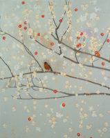 A Robin Courier, 2012, oil on canvas, 60 x 48""