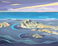 """Jean Kigel, """"Abandoned by the Tide,"""" 2015, oil, 16x20"""""""