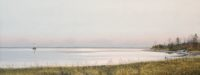 "Merrill French, ""Islesboro Ferry,"" 2014, oil, 12x30"""