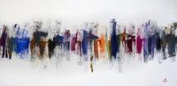 Greg Burns, City VII - Roses, 2014, Oil on Canvas, 50 x 100 cm