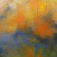 "Water Over the Bridge, 2018, oil on panel, 60 x 60"""