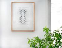 "Kimberly Crichton, Lumberjane, 2016, Handstitched Linoprint, 14.5x17"""