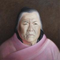 """Sharyn Paul Brusie, """"Reverence,"""" 2017, oil/acrylic, 36 x 36"""""""