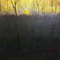 "Chris Polson, Lincolnville Yellow, 72"" x 72"", oil on linen, 1998"