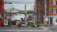 "Merrill French, ""Bridges Over the Piscataqua,"" 2016, oil, 18x30"""