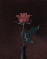 "Kenneth Schweizer, ""Rose,"" oil on panel, 10 x 8"""