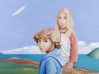 """Sharyn Paul Brusie, """"Guardian Angel,"""" 2015, acrylic, 36 x 48"""""""