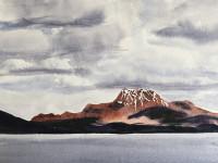"""Linda Posson, Loch Lomond, watercolor, 8 x 10"""""""