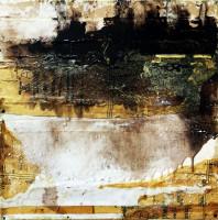 "Shifting Threshold Series: Winter: Shift 3, 2015, mixed  media on wood, 48 x 48"""