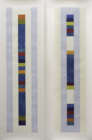 "Nancy Simonds, Oceanward Color Stacks I & II, 59"" H x 40"" W, Gouache on Paper"