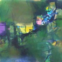 "Erika Manning, ""Random Walk,"" 2017, acrylic on paper, 22 x 22"""