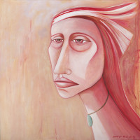 "Sharyn Paul Brusie, Facing The Light of Day,"" 2015, acrylic, 36 x 36"""