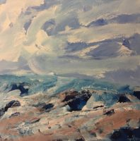 Jenny Wilson Windy Day - Marsh Island 2017 acrylic on canvas 12 in x 12 in.jpg