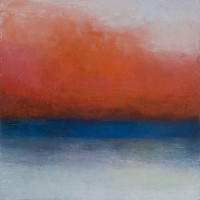 "Rachael Eastman, 2012, ""Water's Edge Deer Isle 2,"" oil on canvas over box panel, 10 x 10 in"