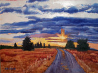 Evening Sun Rays, October 2012, Oil Painting, 18 x 24