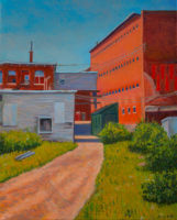 Janice L. Moore, Bleachery Pepperell Mill, 2015, oil on canvas, 16x20in.