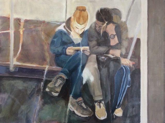 "Paul Heffernan, ""InTransit,"" 2016, Acrylic on Canvas, 18 x 24"""