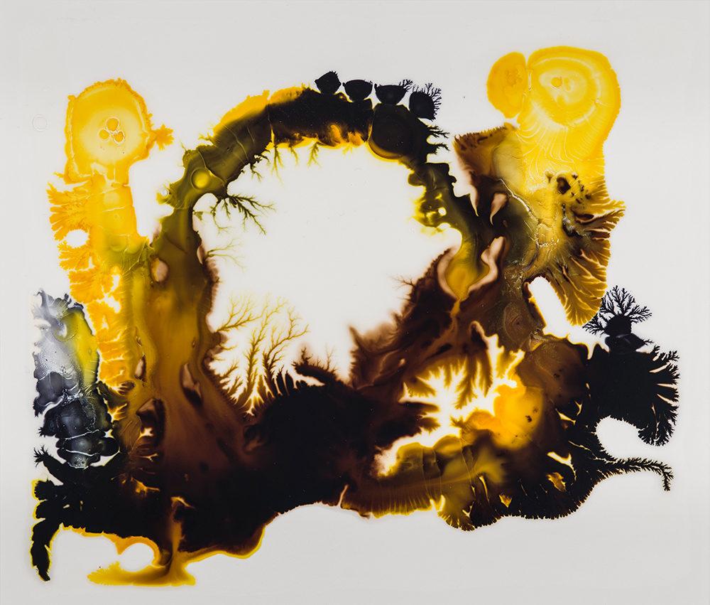 "Portal, 2018, ink on Yupo, 6 x 8"""