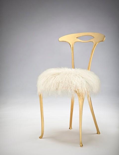 "Michele Caron, ""Gilded Chair"""