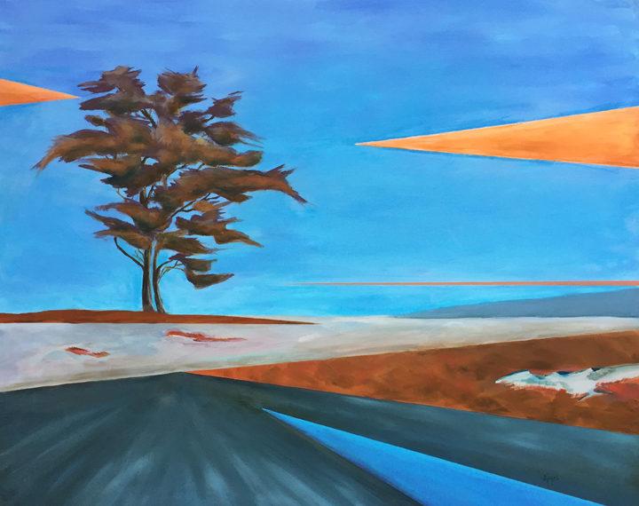 """Jean Kigel, Barrens on Finntown, 2017, oil on canvas, 24 x 28"""""""