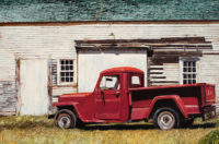 "Carol Rowan,, Thornton's '52, oil on panel, 24"" x 36"""