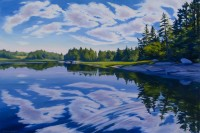 "Wendy Newcomb, ""Cloudscape,"" oil, 24x 26"""