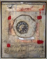 "Otty Merrill, ""Time Machine,"" 2014, Encaustic/Mixed Media, 17 x 24"""