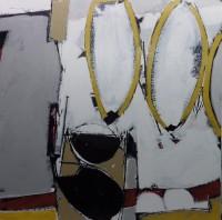 "Conrad Guertin, Untitled, acrylic and latex paint, 49 x 49"""