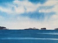 """Linda Posson, Friendship, watercolor, 8 x 10"""""""