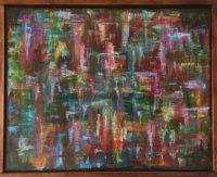 "Duncan McKnight, ""Iridescent,"" 2016, acrylic, gloss medium, 16 x 20"""
