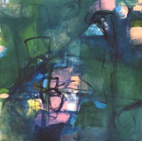 "Erika Manning, ""Derange,"" 2017, acrylic on paper, 22 x 22"""