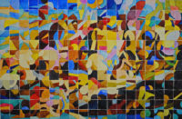 "John Carnes, ""American Baroque II,"" watercolor, 2017, 16"" x 22"""